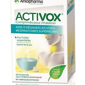 Comprimés pour inhalation, Activox