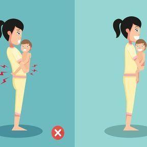 La bonne posture pour porter un bébé