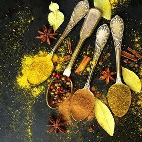 Un mélange d'épices indiennes