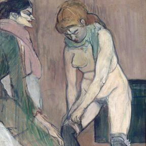 Femme tirant sur son bas ! Henry de Toulouse Lautrec