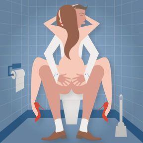 Dans les toilettes