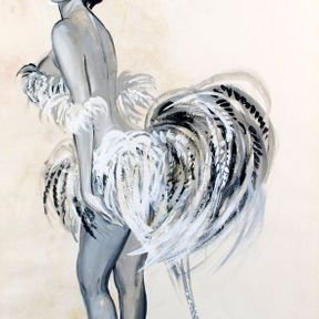 Pierre Laurent Brenot : Pin-up aux plumes
