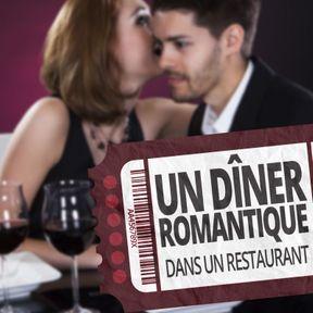 Un dîner romantique dans un restaurant