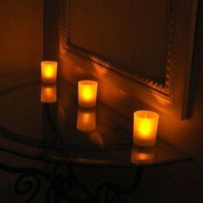 Ambiance tamisée avec les bougies high tech