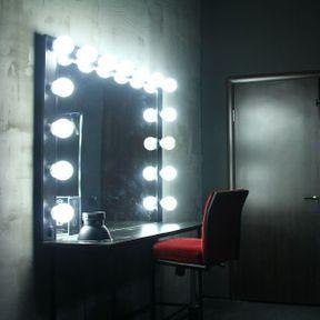 Dans la loge… un grand miroir
