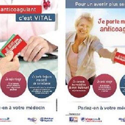 Une campagne de sensibilisation pour les patients sous anticoagulant oral