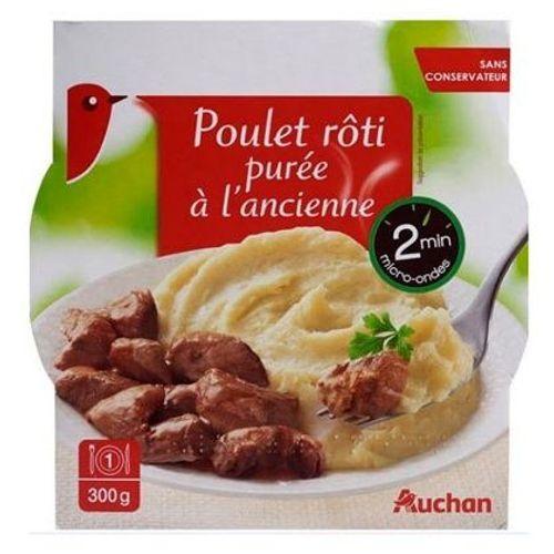 Rappel de poulet-purée à l'ancienne de marque Auchan