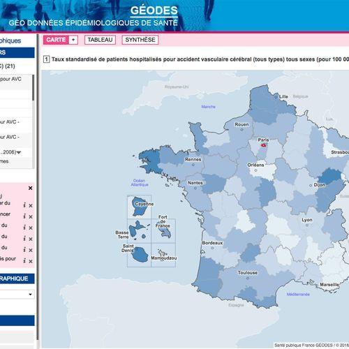 Données de santé : des cartes régionales disponibles sur un nouveau site officiel